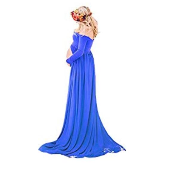 Saslax Dresses | Open Front Maternity Gown | Poshmark